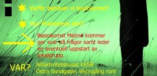 HELSINGBORG: Basinkomst istället för arbetslinjen: folkkök, föreläsning och uppstart av lokalgrupp // 14 april